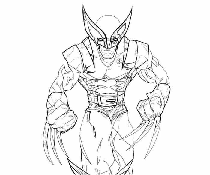 Wolverine Coloring Pages To Print From Printable Wolverine