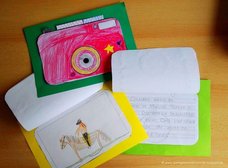 Sonniges Klassenzimmer: Schreibvorlagen für Ferienberichte