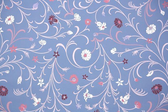 1950s Floral Vintage Wallpaper Floral Wallpaper Vintage Wallpaper Classic Wallpaper