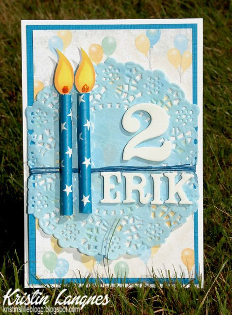 Kristins lille blogg: Bursdagskort - Erik 2 år
