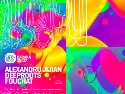 Sunday Scoop: electronic music event party flyer poster design
