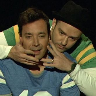 """Watch Jimmy Fallon and Justin Timberlake Demonstrate """"The Evolution of End Zone Dancing"""""""