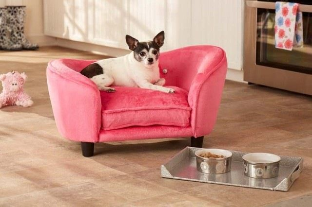Ultra Plush Snuggle Dog Bed in Pink contemporary-dog-beds