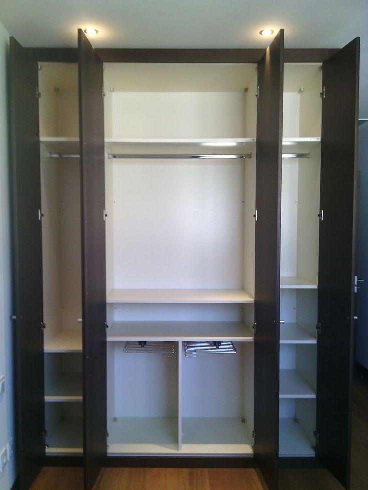 Interiores de armario con baldas lacadas seg n color - Armarios con baldas ...