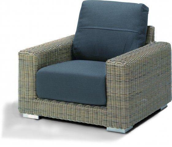 4 Seaons Outdoor Kingston lounge stoel met 2 kussens - Pure