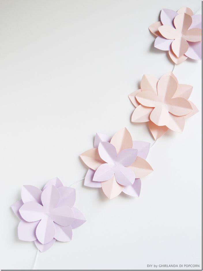 Paper garland Ghirlanda di Popcorn thumb Tutorial sposa : allestire con ghirlande di carta colorata