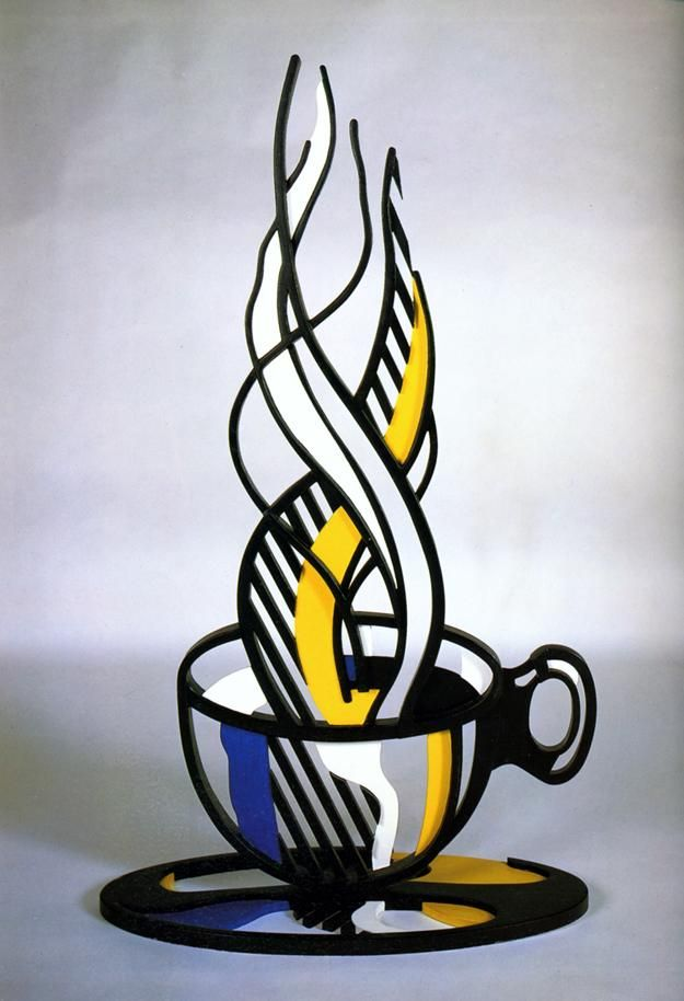 1977 Roy Lichtenstein, Cup and Saucer II, Pop Art. #USA @deFharo