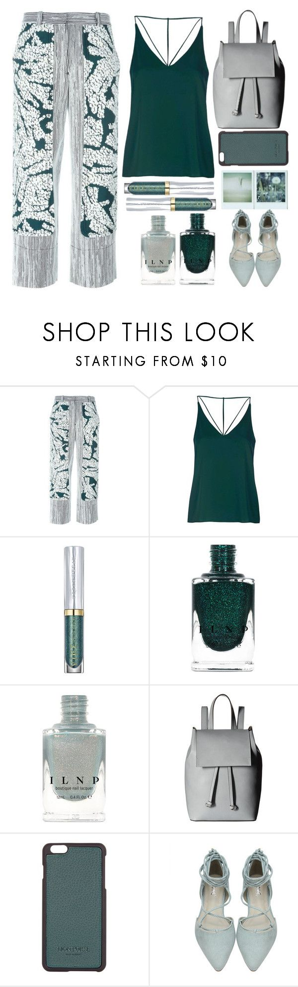 """Peacock"" by juliehalloran ❤ liked on Polyvore featuring Cédric Charlier, Topshop, Urban Decay, French Connection, Mon Purse and Polaroid"