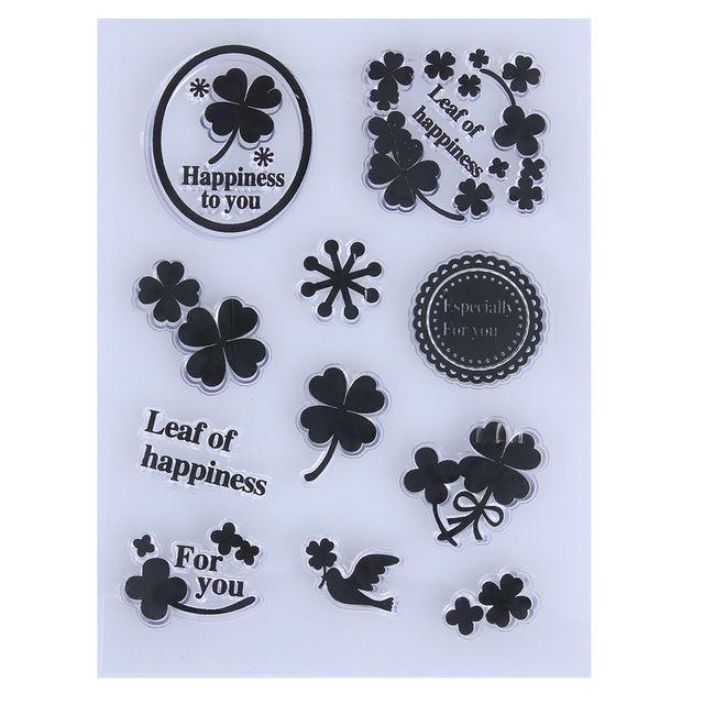 Beer Hart Bloemen Transparant Clear Stempel DIY Siliconen Seals Scrapbooking Card Maken Fotoalbum Decoratie Benodigdheden Stempelen