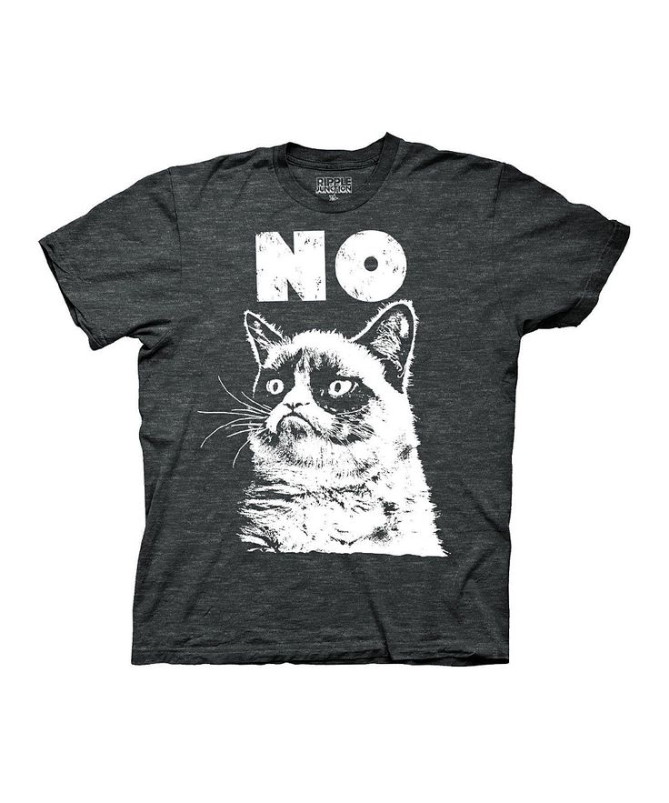 Heather Gray Grumpy Cat Tee - Men | Daily deals for moms, babies and kids