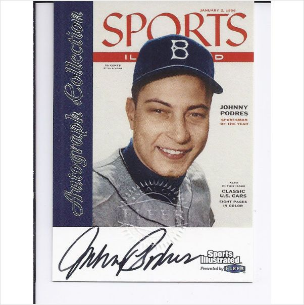 1999 Sports Illustrated Greats Game AUTOGRAPH Johnny Podres Brooklyn Dodgers BM on eBid United States