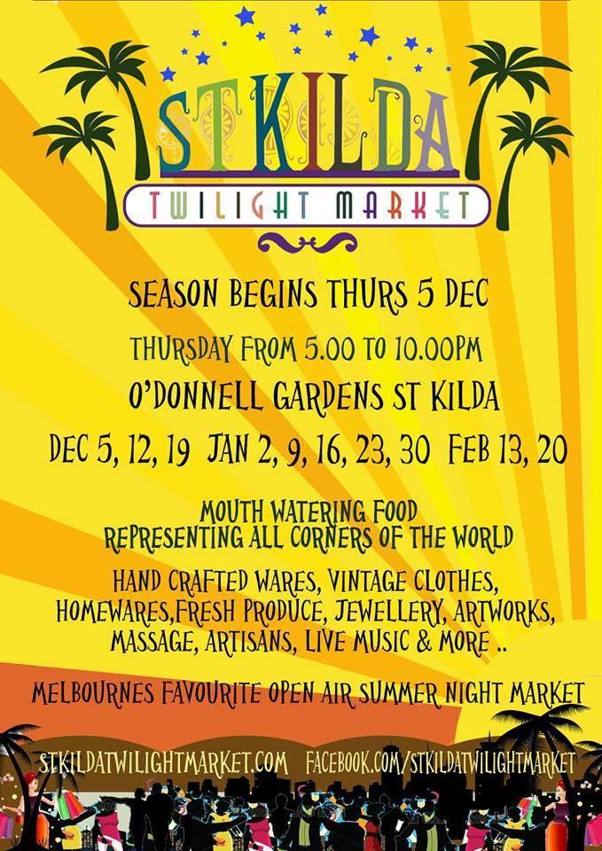 St Kilda Twilight Market Poster