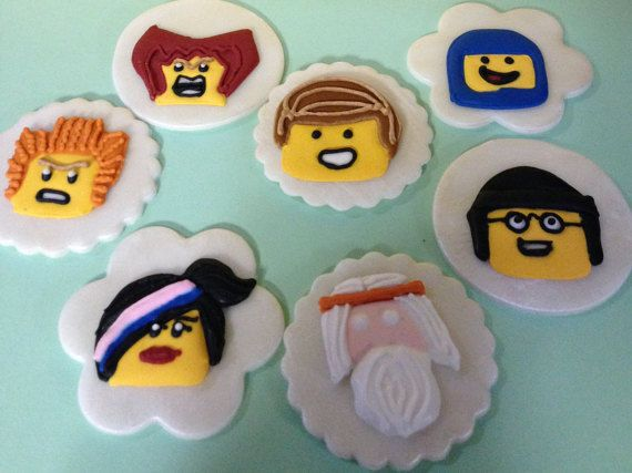 Lego Movie Cupcake Toppers by Eiracookies on Etsy