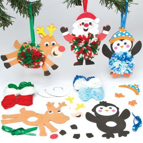 bastelsets f r weihnachtsdekoration mit bommeln f r kinder. Black Bedroom Furniture Sets. Home Design Ideas