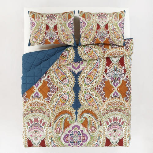 Venetian Quilt: Colors Patterns, Guest Bedrooms, Spa Rooms, Worldmarket With Pin, Colors Combinations, Venetian Beds, Beds Collection, Guest Rooms, Venetian Quilts