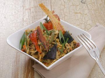 Těstovinový salát s grilovanou zeleninou