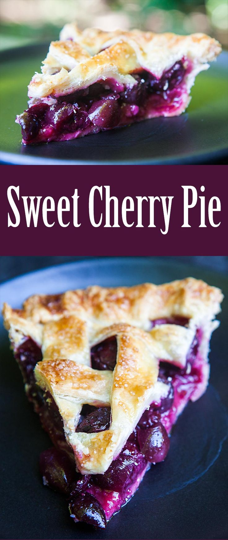 Have fresh sweet cherries? Make sweet cherry pie! So delicious. On SimplyRecipes.com #MemorialDay