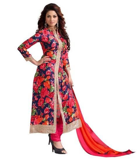 LadyIndia.com # Anarkali, Stylish Floral Cotton Red Kurti For Women, Kurtis, Kurtas, Cotton Kurti, Anarkali, A-Line Kurti Designer Kurti, https://ladyindia.com/collections/ethnic-wear/products/stylish-floral-cotton-red-kurti-for-women?variant=30039330253