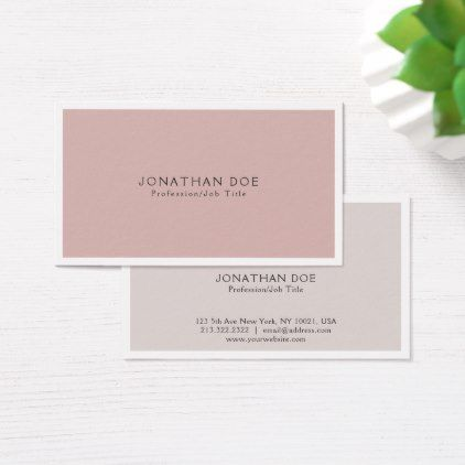 Elegant Colors Harmony Modern Simple Plain Business Card - hair stylist gifts business cyo diy custom create