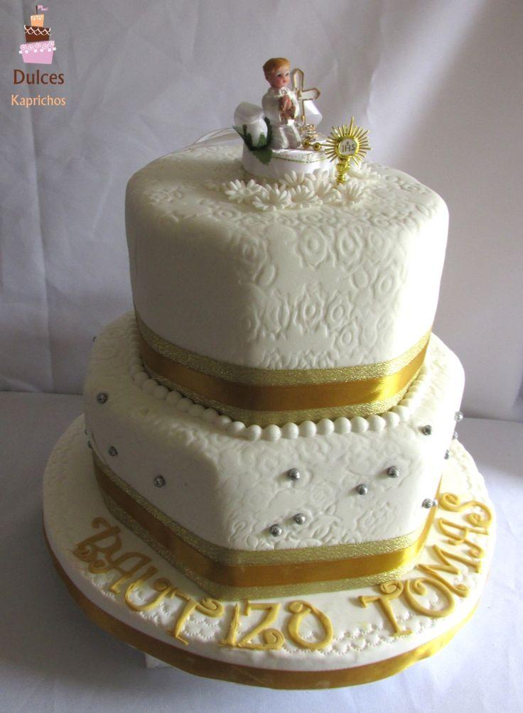 Torta de Bautizo para Tomas #TortaBautizo #TortasDecoradas #DulcesKaprichos