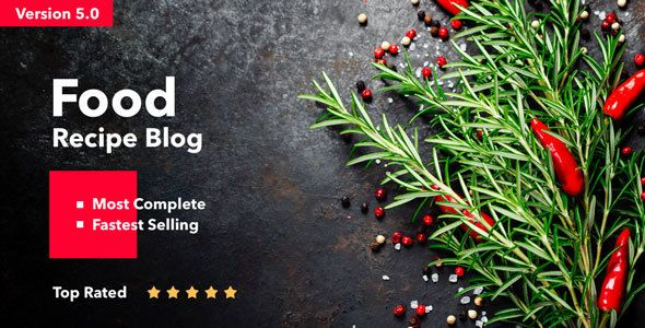 Showcase your recipes with this blog theme@ It has amazing features and a beautiful layout to go with it! #blog #theme #design #recipe #showcase