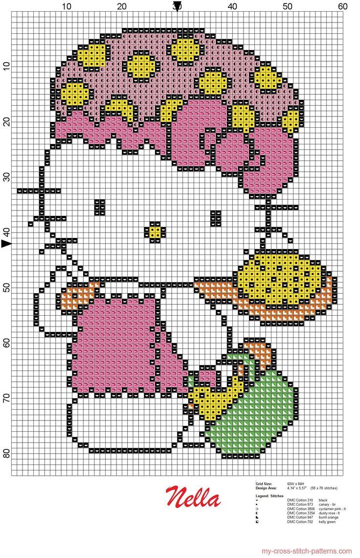 Hello Kitty bath pattern