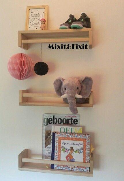 Kruidenrekje Ikea, ook leuk voor in de babykamer!
