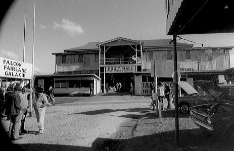 Fruit Hall in the main pavilion, Nambour Showgrounds, 1972 [picture]