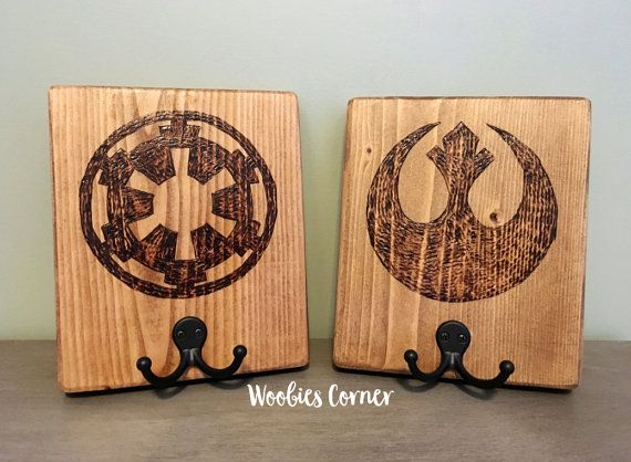 Star Wars Decor, Star Wars Couple, His And Her Towel Rack, His And
