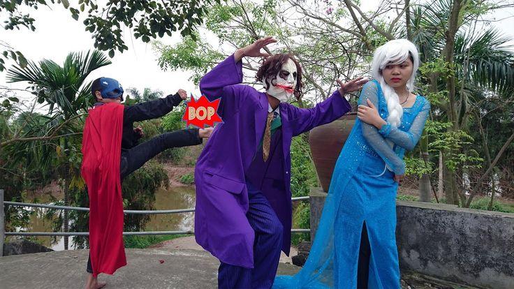 Joker kidnap Frozen Elsa Spiderman Catch Hulk Trying to Steal fruit Capt...
