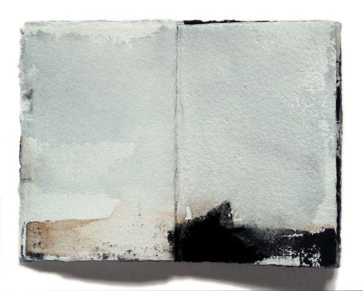 Miklós Szüts: Srapbook 2014 - 1, aquarell, paper, 21 x 31 cm