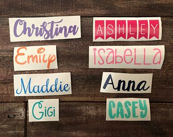 Custom Name Sticker Decal | Name Decal | Name Sticker | Custom Vinyl Sticker | Custom Vinyl Decal | Personalized Sticker | Vinyl Decal