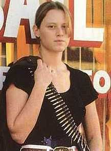 Domino Harvey -http://en.wikipedia.org/wiki/Domino_Harvey# . noteworthy  female bounty hunter