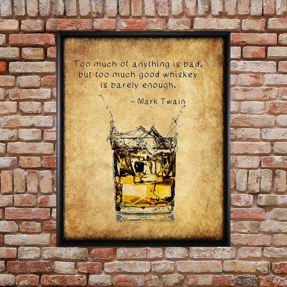 Poster di Whisky Bar Art stampa di Whiskey stampa