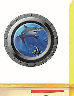 3d Wall Stickers Veggdekor, ubåten stil hai pvc vegg klistre... – NOK kr. 52