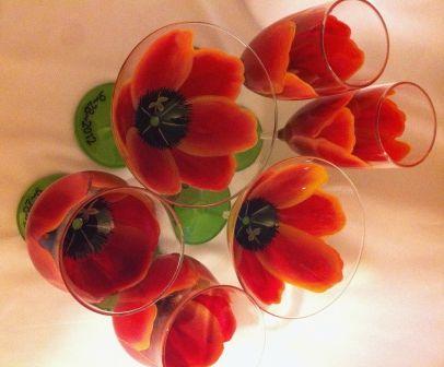 FLOWER GLASSES - Sunset Tulip Wine Glass - The Painted Flower (Powered by CubeCart) - Sunset Tulip Glasses