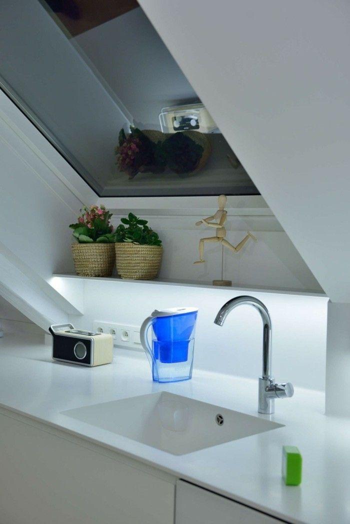 die 25+ besten ideen zu küche dachschräge auf pinterest ... - Kleine Küche Dachschräge