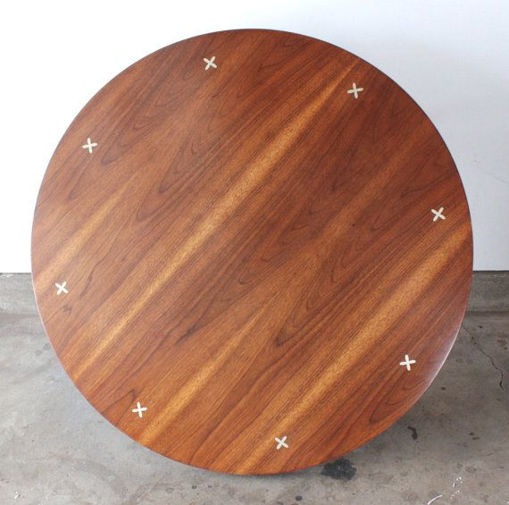 1950s American Mid Century Modern Small Round Top: Vintage Mid Century Modern 1960s American Of Martinsville