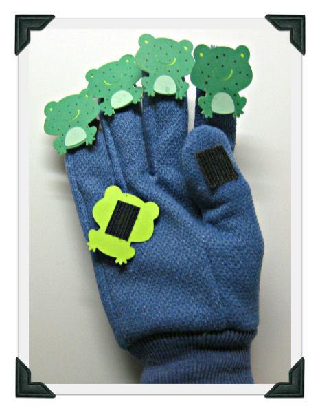 Five Frogs Fingerplay Glove