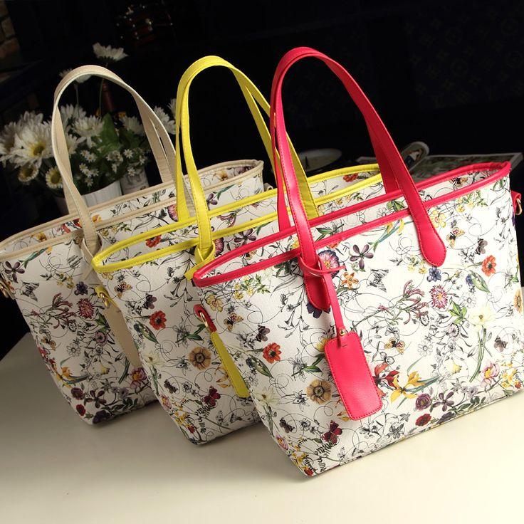 2013 women's handbag l new arrival print fashion handbag shoulder bag large bag vintage $19.20
