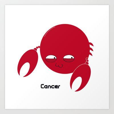 FAT ZODIAC (CANCER) Art Print