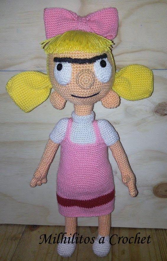 Helga Pataki Amigurumi Helga Pataki  Oye Arnold! Hey Arnold!