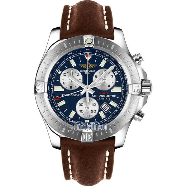 mens designer watches breitling 9u2o  Breitling Colt Chronograph a7338811/c905-2ld Watch $2,970  liked on  Polyvore