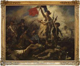 *ルーヴル美術館の見所* ドラクロワ《1830年7月28日:民衆を導く自由の女神》