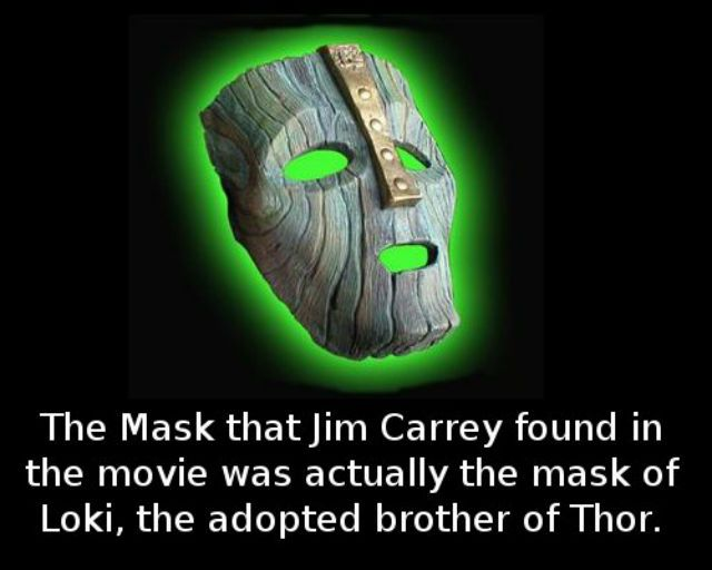 Did you know that the mask Jim Carrey found in the movie was actually the mask of�