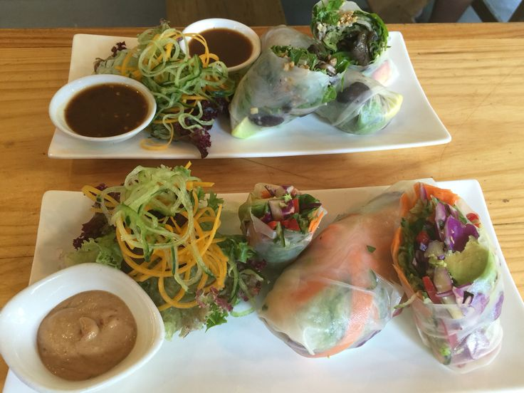Tasty spicy mushroom and Thai veg rice paper rolls