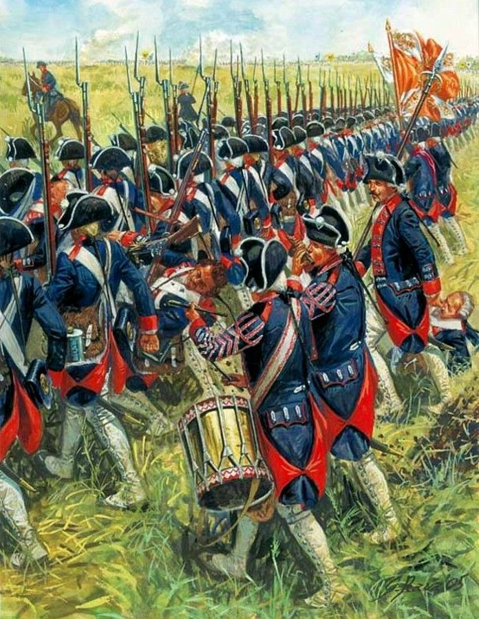 SYW- Prussia: Prussian Infantry at the Battle of Kolin, 18 June 1757, by Giuseppe Rava.