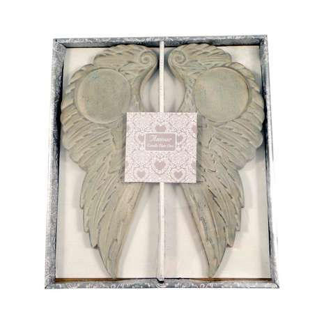 Wedding Angel Wing Candle Plate
