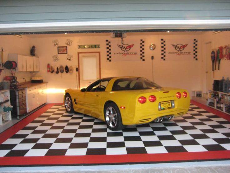 Best 25 cool garages ideas on pinterest man cave pole for Cool garage floors