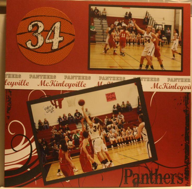 Delightful Details: Basketball Scrapbook Page